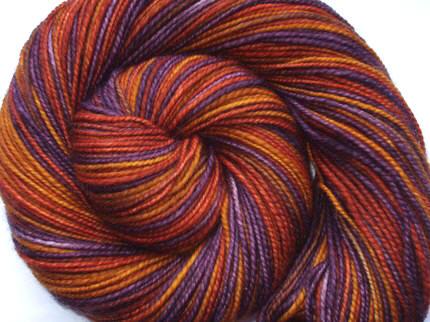 Maya, Handspun&Handpainted Merino Superwash Yarn